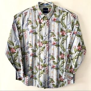 Tommy Bahama Floral Button Down Shirt XXL